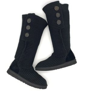 UGG   Women's Classic Cardy Boots Black Size 10
